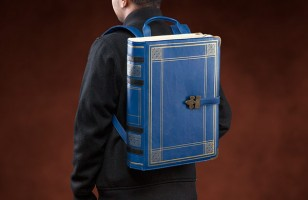 Carry Your Books In A Backpack That Looks Like An Old Book