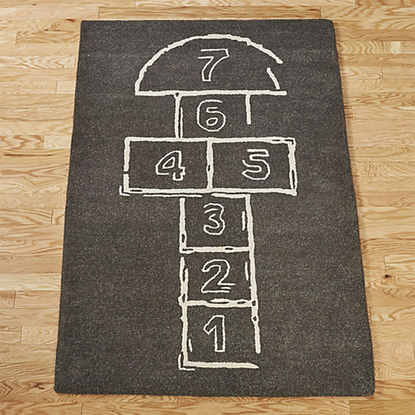 Skip Out The Door With This Super Fun Hopscotch Rug
