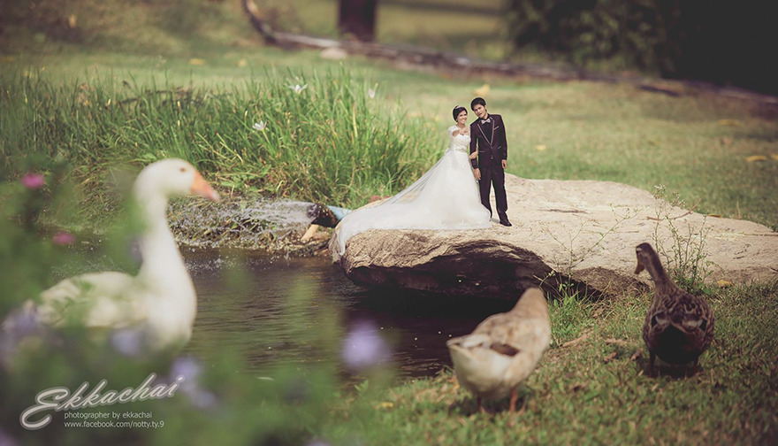 Wedding Photographer Turns Newlyweds Into Mini People