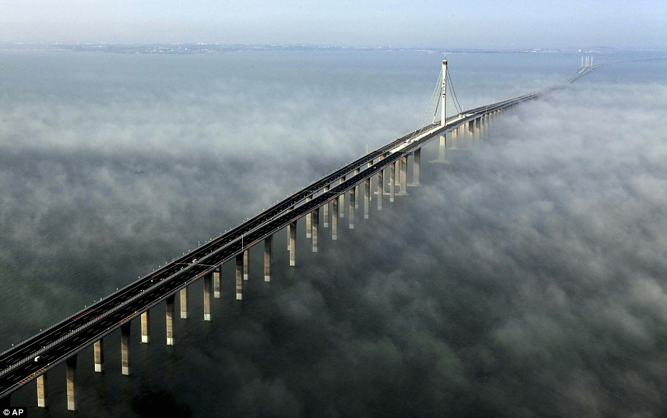 The World's Longest Sea Bridge Is As Long As A Marathon