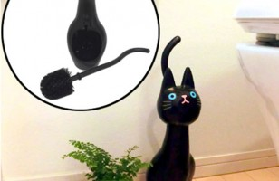 Every Cat Themed Bathroom Needs This Cat Toilet Brush