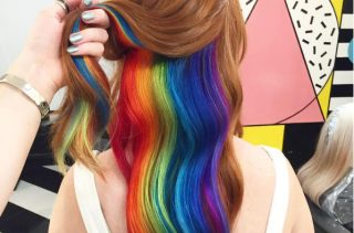Hidden Rainbow Hair Is The Newest Pretty Hair Trend