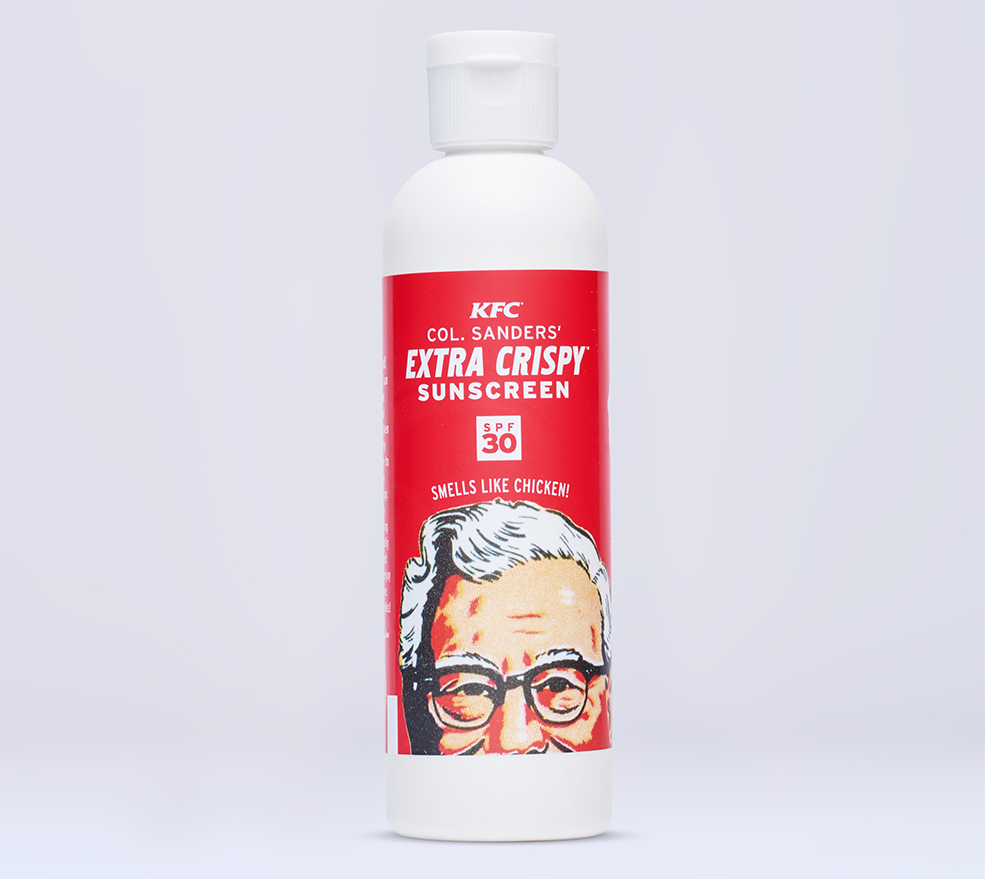 Thanks To KFC, Fried Chicken Sunscreen Is A Thing That Exists