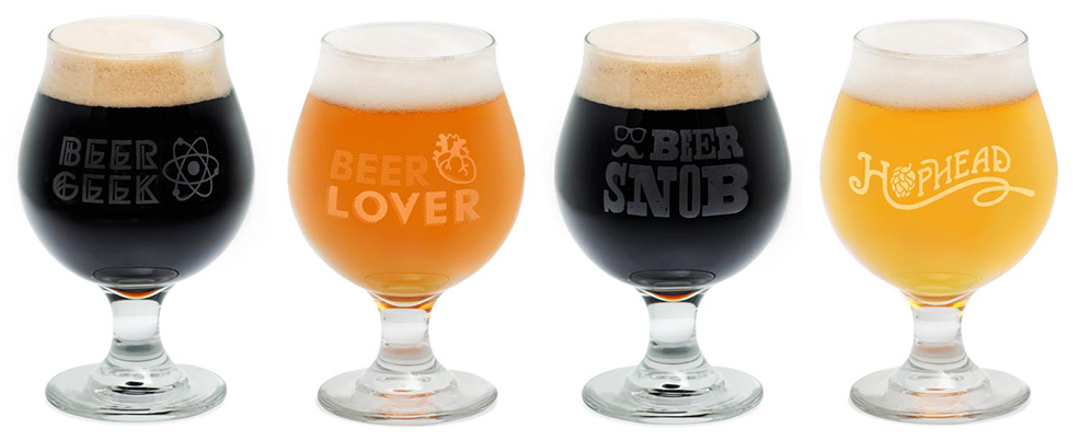giveaway a set of 4 personality craft beer glasses. Black Bedroom Furniture Sets. Home Design Ideas