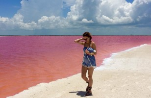 Wow, Mexico Has A Pink Lagoon And It Is Super Pretty