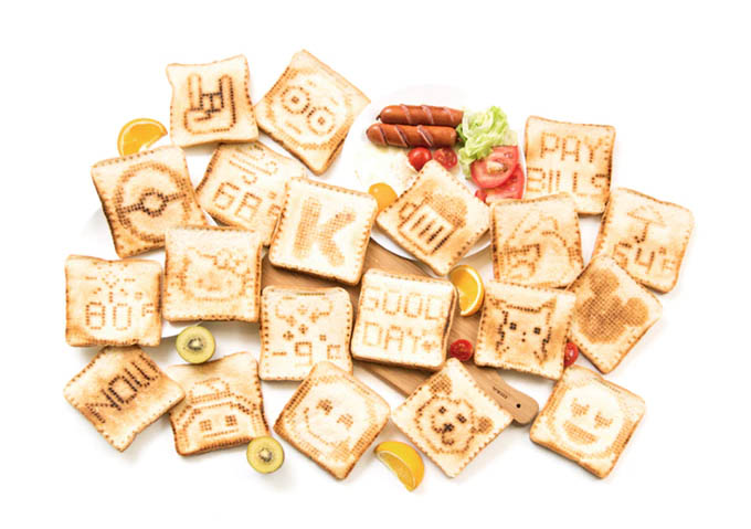 The Toasteroid Toaster Toasts Your Own Designs Onto Bread!