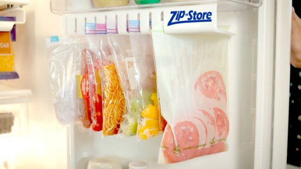 Now You Can Store Ziploc Bags Vertically With The Zip n Store