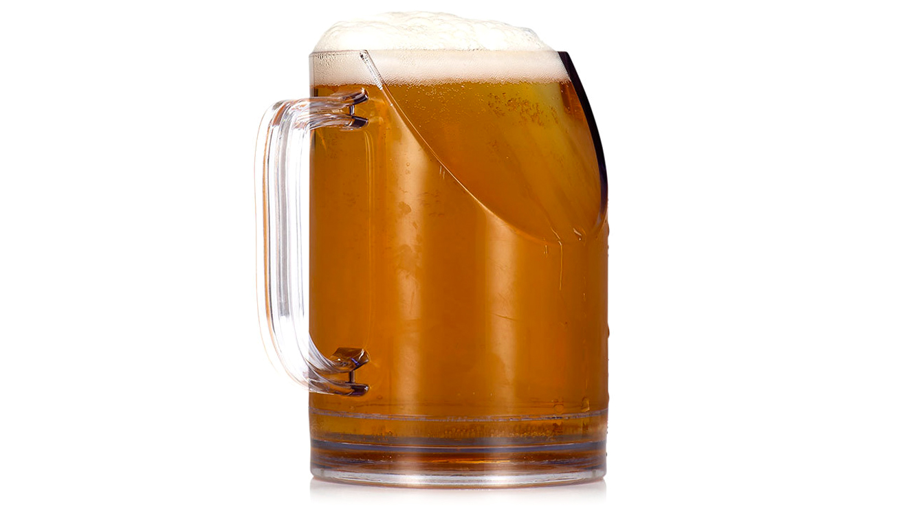 A Ridiculous Beer Mug That Won't Block The TV While You Drink