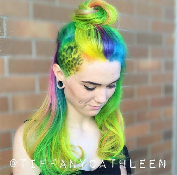 Stop Everything And Check Out The Lisa Frank Hair Trend