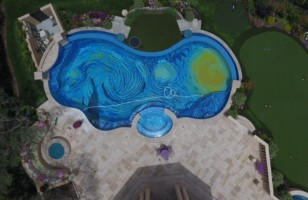 Van Gogh's Starry Night Pool Is The Most Cultured Pool Ever