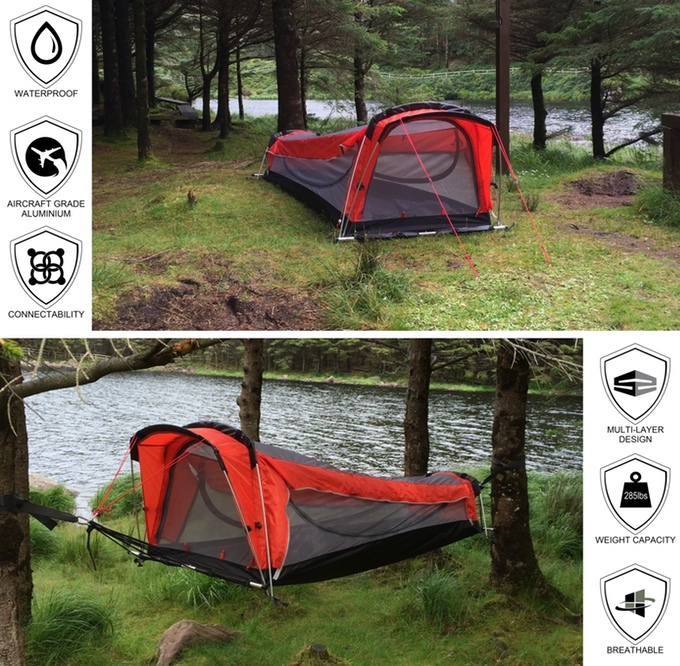 & WHOA: A Tent Hammock Sleeping Bag Inflatable Mattress Combo