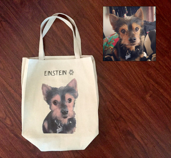Tote Tails Will Put Your Pet's Face Onto A Tote Bag!