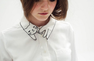Your Wardrobe Needs This Adorable Cat Collar Blouse
