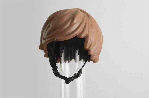 Everything Is Awesome Including This LEGO Hair Bike Helmet