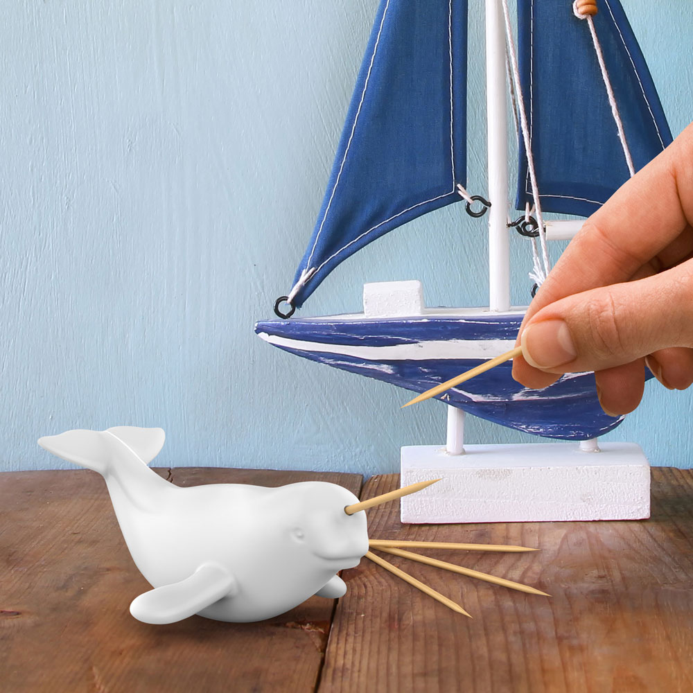 This Narwhal Toothpick Holder Is Unbelievably Cute