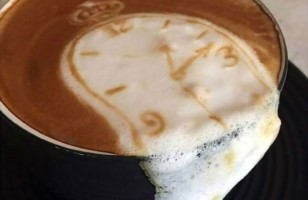 Salvador Dali Latte Art & More Incredible Links
