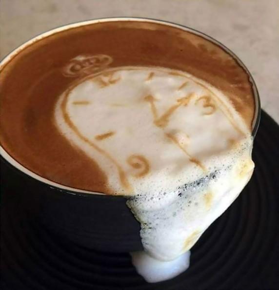 Salvador Dali Latte Art & More Incredible Links