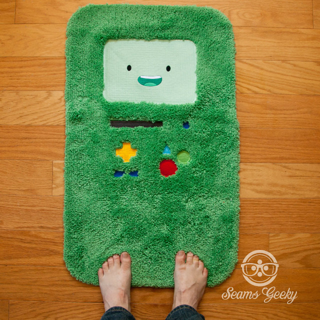 Your Bathroom Needs This Adventure Time BMO Bathmat