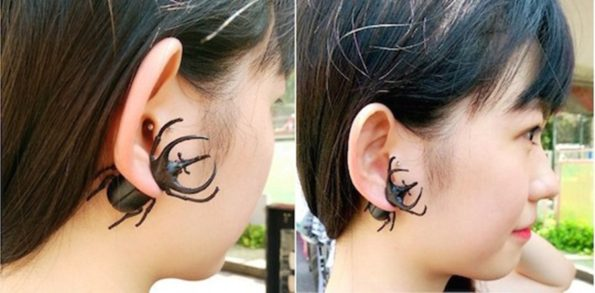 Now You Can Buy A Super Realistic Beetle Earring