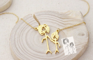 Now You Can Turn Your Child's Drawing Into A Necklace!