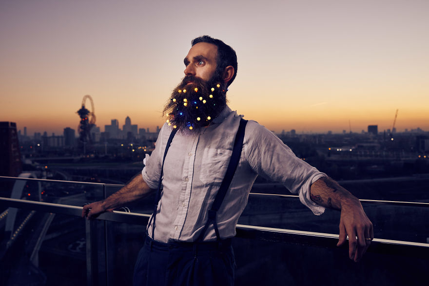 Apparently, 'Tis The Season For Beard Christmas Lights