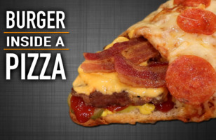 This Is A Burger Inside A Pizza And It's A Dream Come True