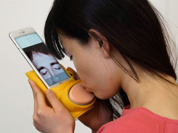 Finally! There's A Device For Kissing Through Your Phone