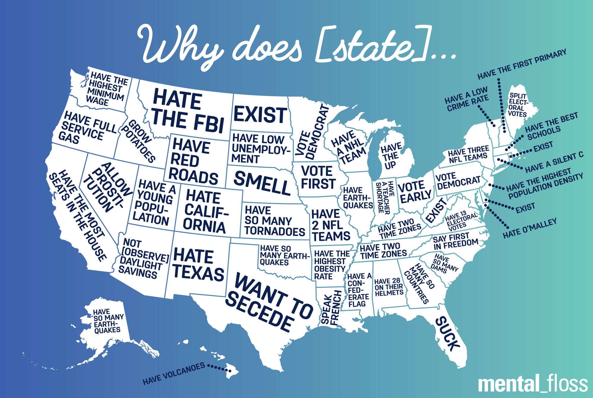 What Does Google Autocomplete Say About Your State – United States Map Google