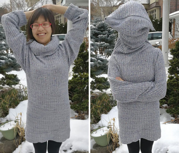 Don't Like People? Try Wearing This DIY Leave Me Alone Sweater