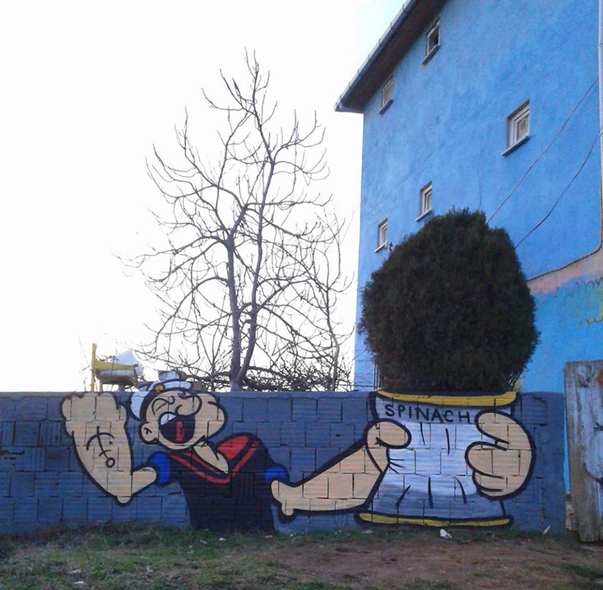 Clever Popeye Street Art & More Incredible Links