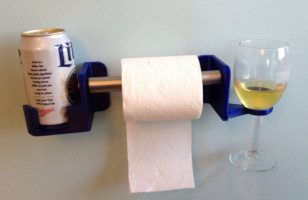The Very Classy His & Hers Beer, Wine And Toilet Paper Holder