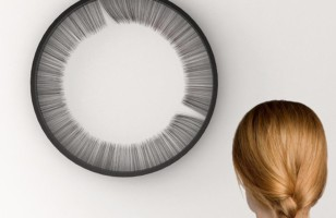 So Here's A Weird Clock That Tells Time Using Hair…