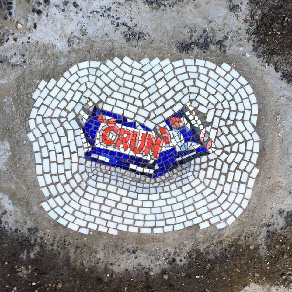 One Artist Livens Up Your Commute With Pothole Mosaics