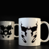 Heat Activated Rorschach Inkblot Mug