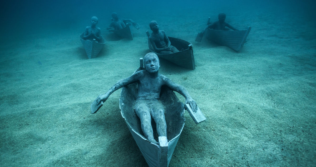 Must see images from europe 39 s first underwater museum for Spain underwater museum
