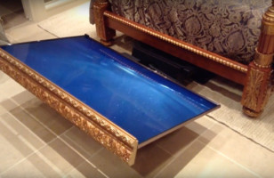 Check Out This Fancy Hidden Under The Bed TV Lift!