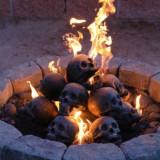 Imitated Human Skull Logs