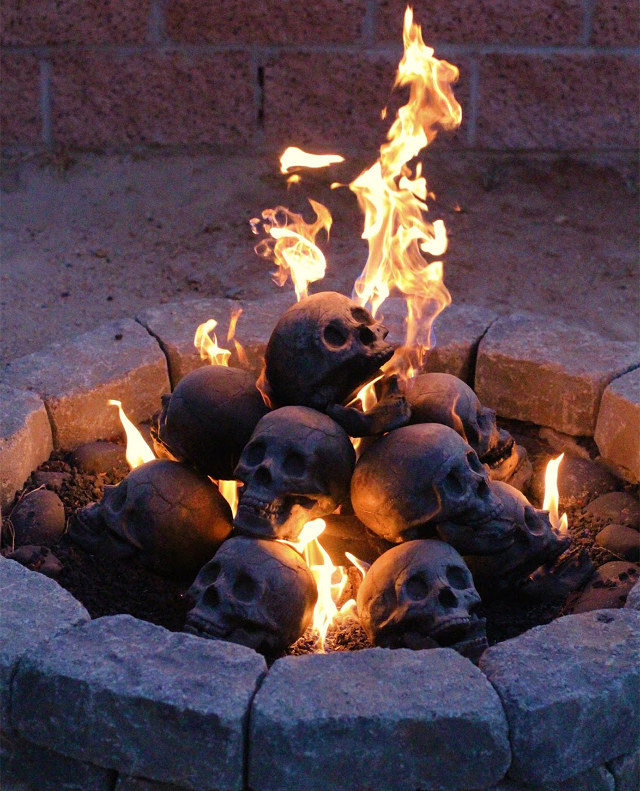 Fill Your Gas Fireplace Or Fire Pit With Fireproof Human Skulls