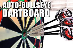 A Moving Dartboard Makes Sure You Hit The Bullseye Every Time