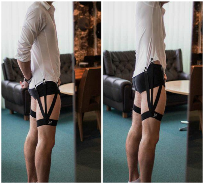 Keep Your Shirt Tucked In With This Weird Shirt Garter Belt