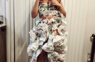 One Lady Made A Taco Bell Dress To Wear To Her Taco Bell Wedding