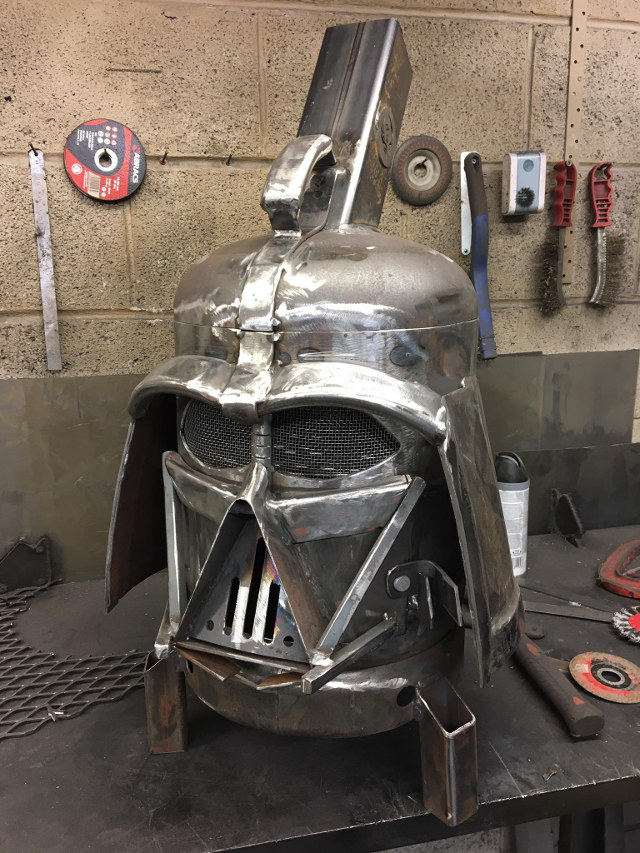 come to the dark side we have this darth vader grill. Black Bedroom Furniture Sets. Home Design Ideas