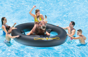 Inflat-A-Bull Is The Bull Riding Pool Float Of Your Dreams