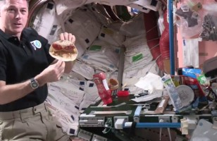 Here's An Astronaut Making A PB&J Sandwich IN SPACE