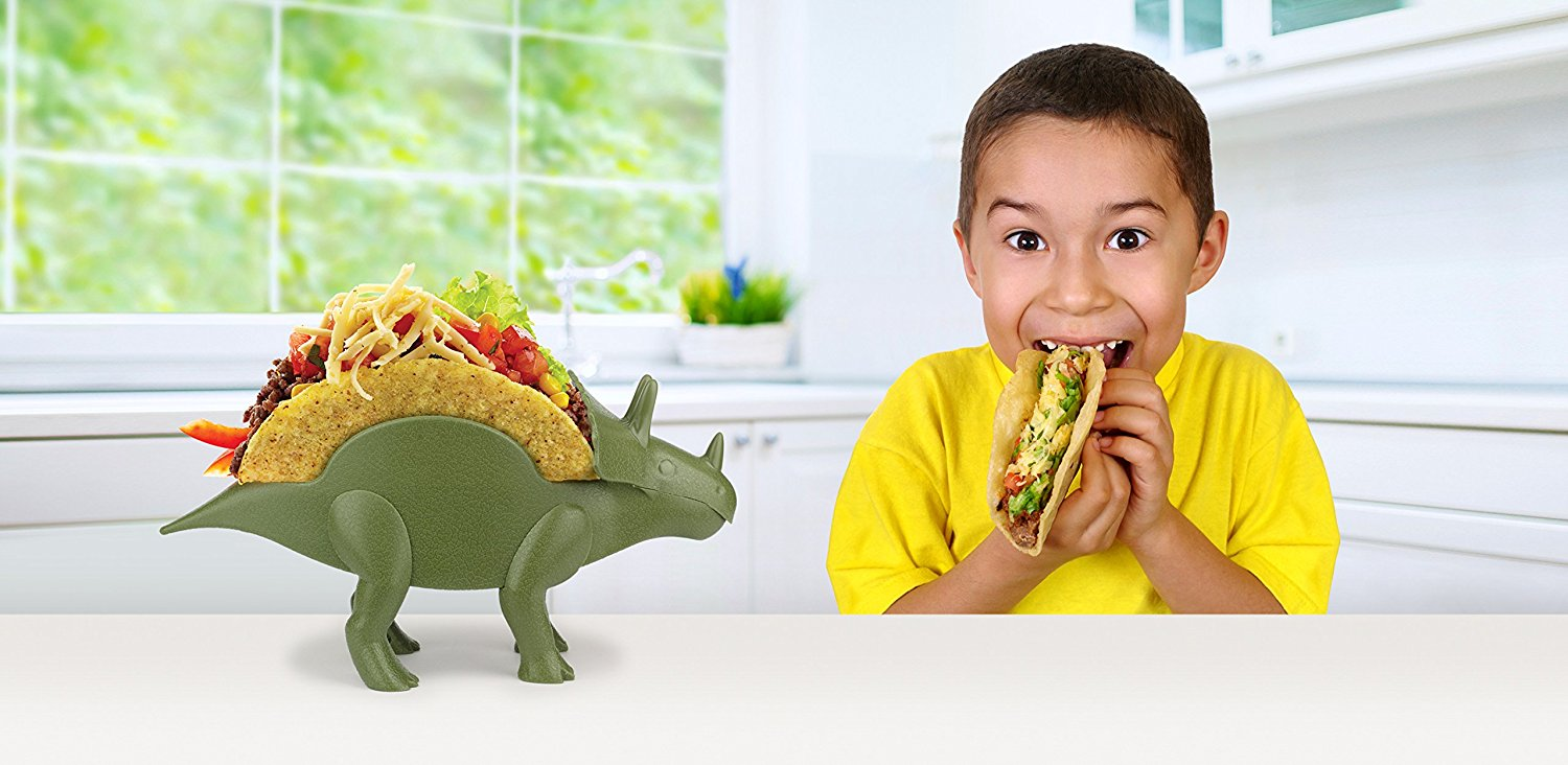 Hold Your Taco In Place With This Triceratops Taco Stand