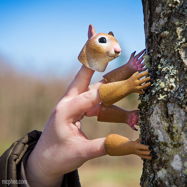 The Handisquirrel Puppet Puts A Squirrel At Your Fingertips
