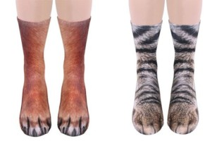 Animal Socks Make Your Feet Look Like Animal Paws