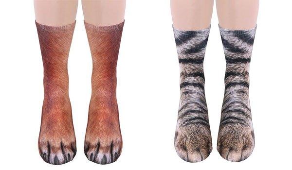 Animal Socks Make Your Feet Look Like Animal Paws