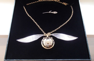 A Golden Snitch Engagement Ring Box For Harry Potter Lovers