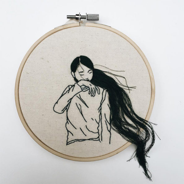 You Are Gonna Be Obsessed With This Hair Embroidery Art